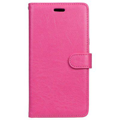 Wkae Solid Color PU Leather Flip Stand Case com Carteira e Three Card Slots para Samsung Galaxy A7 2017
