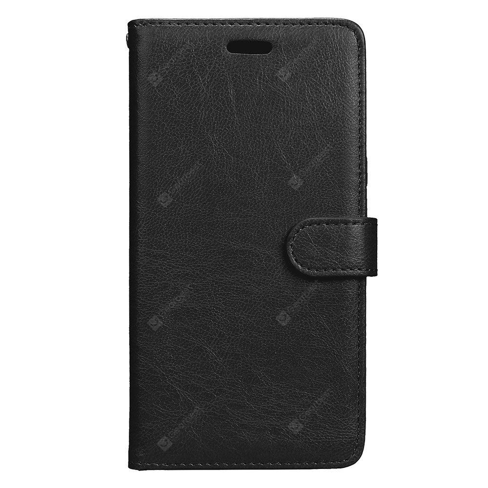 Wkae Solid Color PU Leather Flip Stand Case with Wallet and Three Card Slots for Samsung Galaxy A7 2017