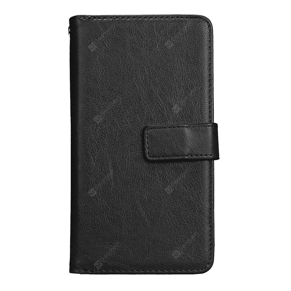 Wkae Solid Color PU Leather Flip Stand Case with Wallet and Nine Card Slots for HUAWEI P9 Lite 2017