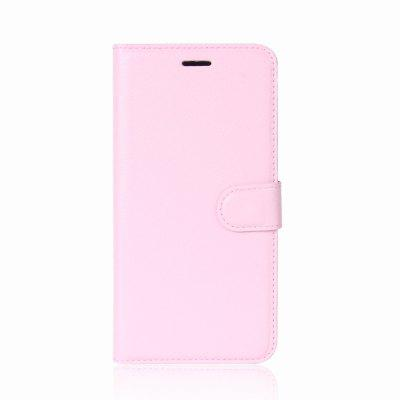Solid Color Litchi Pattern Wallet Style Front Buckle Flip PU Leather Case with Card Slots for Motorola Moto C Plus