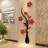 Acrylic Crystal Vase May 3 D Stereoscopic Wall Porch Decorate Sitting Room Sofa TV Setting Wall - RED WITH BLACK