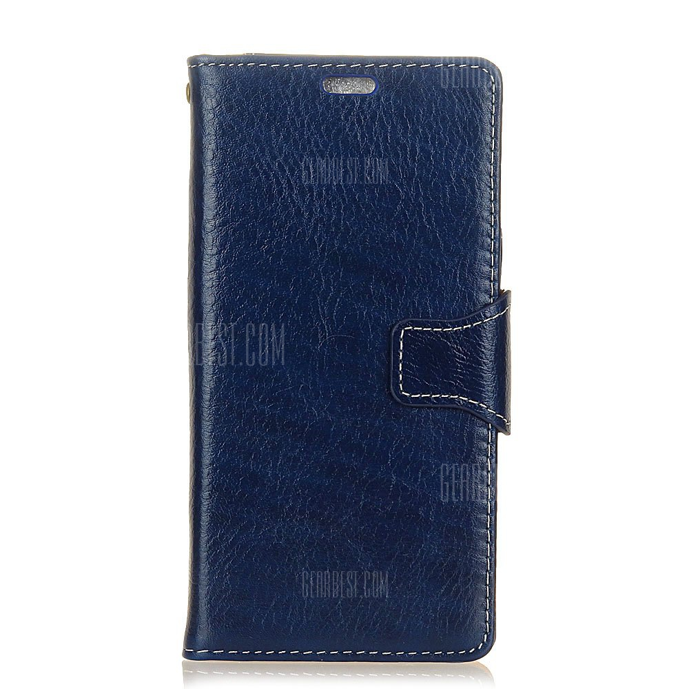 KaZiNe Crazy Horse Stripes Leather Wallet Case for iPhone X