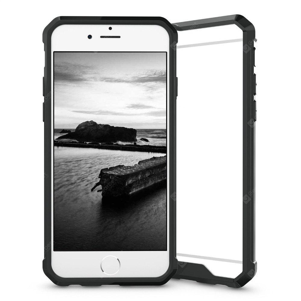 Armor Transparent Clear TPU Frame Shockproof Protective Case Scratch Resistant Fit Thin Slim PC Hard Panel for iPhone 6 / 6S