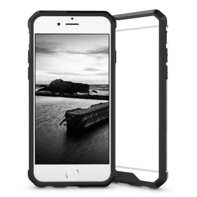 Armor Transparent Clear TPU Frame Shockproof Protective Case Scratch Resistant Fit Thin Slim PC Hard Panel for iPhone 6 Plus / 6S Plus