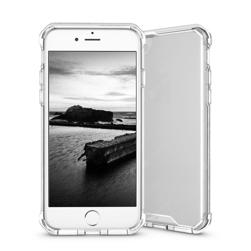 Armor Transparent Clear TPU Frame Shockproof Protective Case Scratch Resistant Fit Thin Slim PC Hard Panel for iPhone 7 Plus
