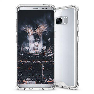 Armor Transparent Clear TPU Frame A prova de choque, caso protetor resistente ao risco, resistente Fit Slim PC Hard Panel para Samsung S8 Plus