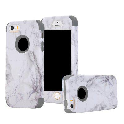 Marble Design Hard Impact Dual Layer Shockproof Bumper Case for iPhone 5 / 5S / SE