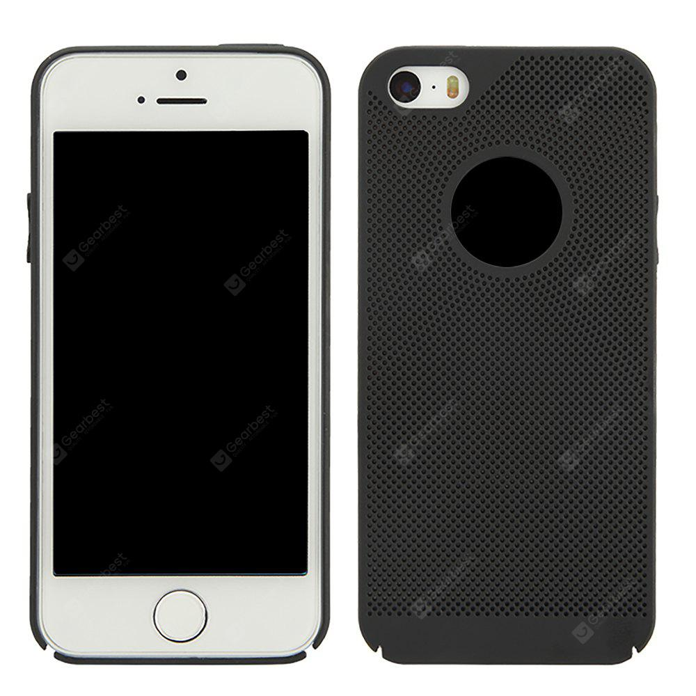Moda Ultra-Thin Respirável Cooling Mesh Hard Phone Cover para iPhone 5 / 5S / SE