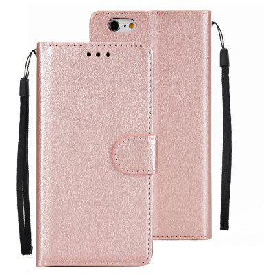Leather Flip Folio Book Case Wallet Cover with Kickstand Feature Card Slots ID Holder Magnetic Closure for iPhone 6Plus / 6S Plus