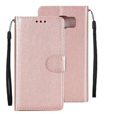 Leather Flip Folio Book Case Wallet Cover with Kickstand Feature Card Slots ID Holder Magnetic Closure for samsung S6
