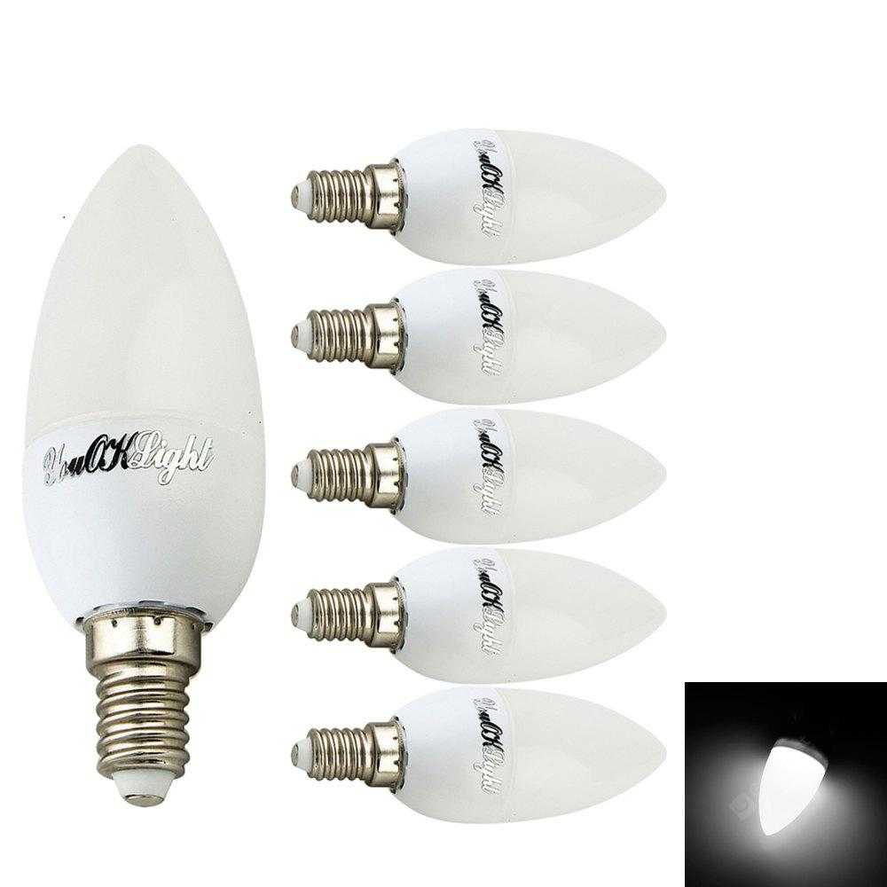 YouOKLight E14 2W 8 - SMD2835 Branco Quente / Cool White Light LED Candle Bulb AC 220V 6PCS