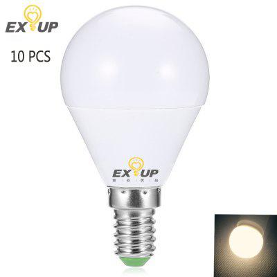 Buy WARM WHITE LIGHT EXUP 10PCS G45 E27 AC 220 240V 7W LED Globe Bulb for $20.53 in GearBest store