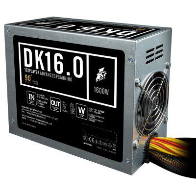 1STPLAYER DK 16.0 1600W Power Supply Supports Mining System Antminer L3 + D3 S9 with 2x 80mm Double Ball Bearing Fan (PC VERSION)