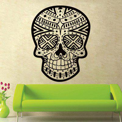Buy Skull Wall Sticker Skull Punk Rock Decor, BLACK, Home & Garden, Home Decors, Wall Art, Wall Stickers for $5.76 in GearBest store
