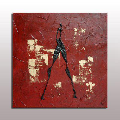 Buy COLORMIX Macroart Hand Painted Abstract Abstract Portrait Modern European Style One Panel Oil Painting for $60.50 in GearBest store
