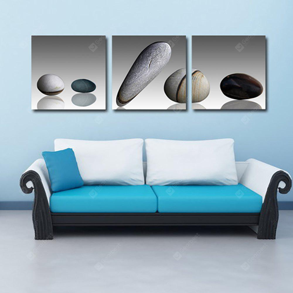 YHHP 3 Panels Pebbles Picture Print Canvas Art Unframed