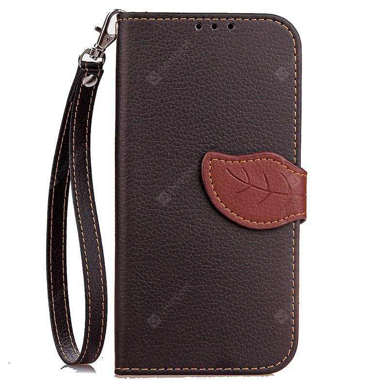 Love Leaf Card Lanyard Pu Leather pour Samsung J7 Prime