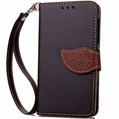 Love Leaf Card Lanyard Pu Leather pour Samsung J120