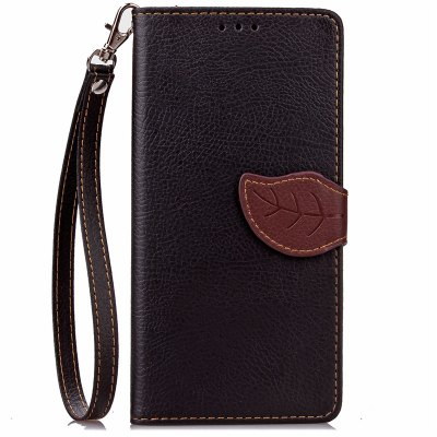 Love Leaf Card Lanyard Pu Leather pour Samsung Note7