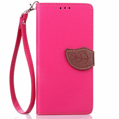 Love Leaf Card Lanyard Pu Leather para Samsung Note7