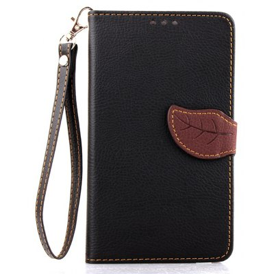Love Leaf Card Lanyard Pu Leather Pour Samsung NOTE bord
