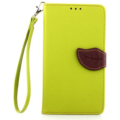 Love Leaf Card Lanyard Pu Leather para Samsung NOTE edge