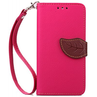 Love Leaf Card Lanyard Pu Leather para Samsung ON5