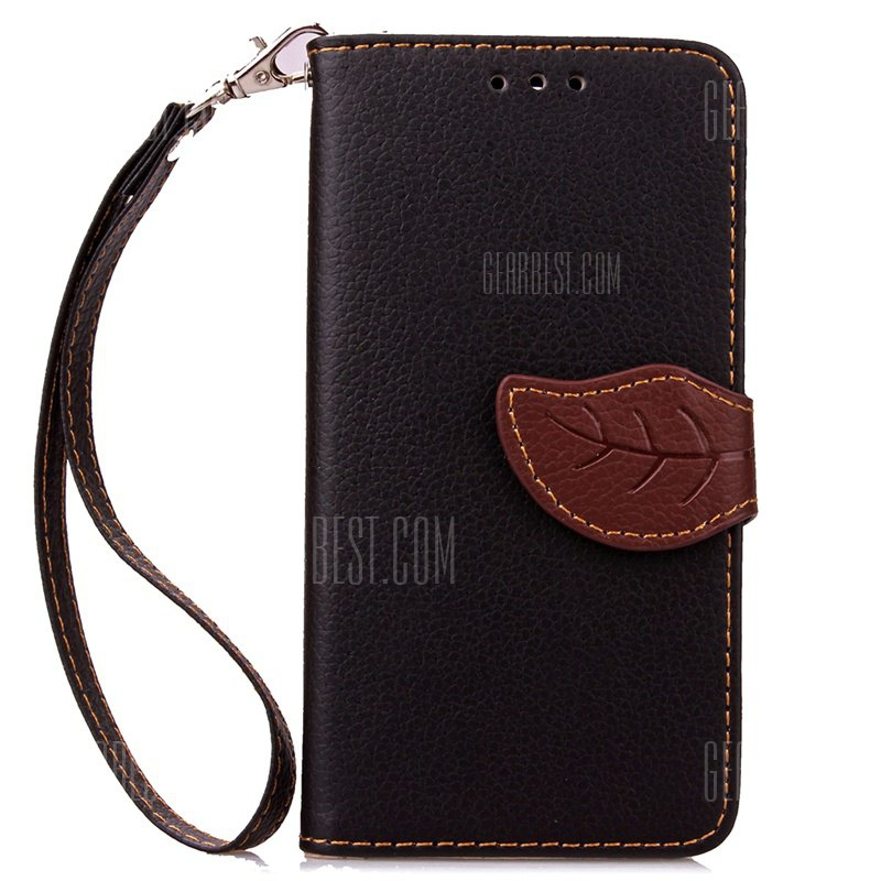 Love Leaf Card Lanyard Pu Leather pour Samsung ON5