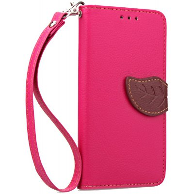 Love Leaf Card Lanyard Pu Leather para Samsung ON7