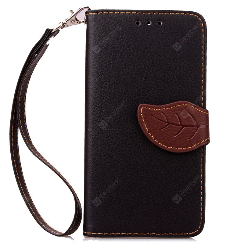 Love Leaf Card Lanyard Pu Leather pour Samsung ON7