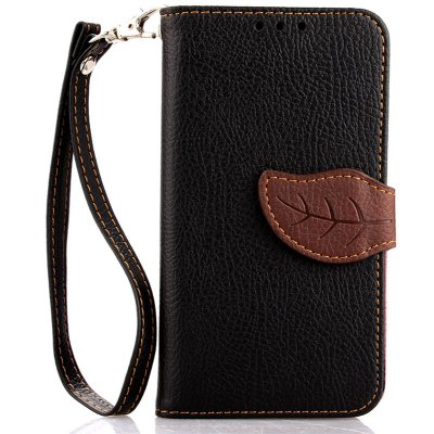 Love Leaf Card Lanyard Pu Leather for Samsung S5 mini