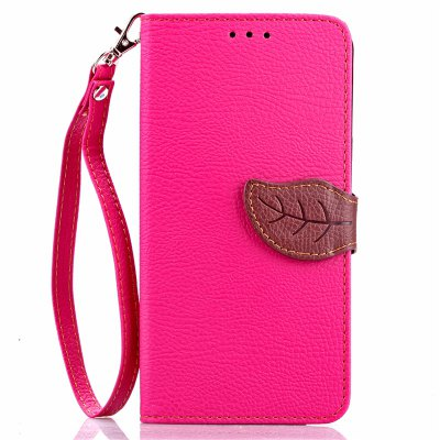 Love Leaf Card Lanyard Pu Leather para Samsung Note5