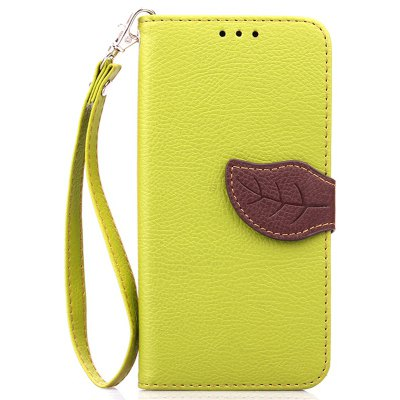 Love Leaf Card Lanyard Pu Leather for Samsung S6