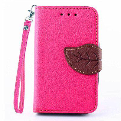 Love Leaf Card Lanyard Pu Leather para Samsung G310H