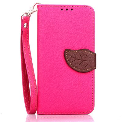 Love Leaf Card Lanyard Pu Leather para Samsung E5 E5000