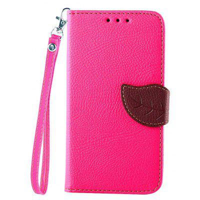 Love Leaf Card Lanyard Pu Leather para Samsung G850F