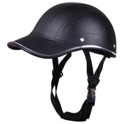 Motorcycle Helmet Baseball Style Plaid Half Open Face Safety Hard Hat Anti-UV Helmets classic solar energy safety helmet hard ventilate hat cap cooling cool fan delightful cheap and new hot selling