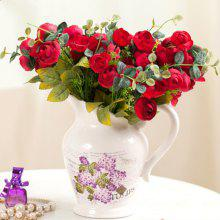 XM1 10Heads Red Tea Rose Home Decoration Artificial Flowers