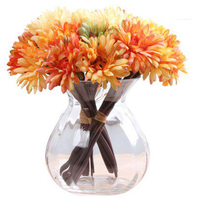 Buy ORANGE XM1 7 Branch Color Assortment Orange-Colored Items African Daisy Bouquet Artificial Flowers for $4.17 in GearBest store