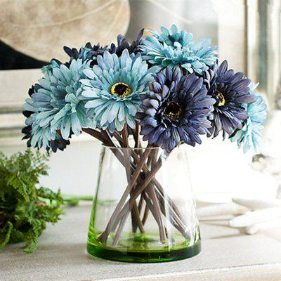 Buy BLUE XM1 7 Branch Color Assortment Blue-Colored Items African Daisy Bouquet Artificial Flowers for $7.93 in GearBest store