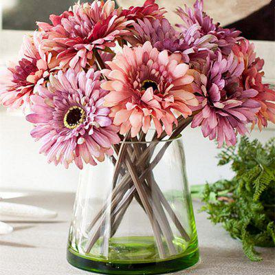 Buy PURPLE XM1 7 Branch Color Assortment Violet-Colored Items African Daisy Bouquet Artificial Flowers for $7.93 in GearBest store