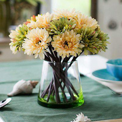 Buy GREEN XM1 7 Branch Color Assortment Green-Colored Items African Daisy Bouquet Artificial Flowers for $7.93 in GearBest store