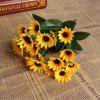 XM1 20Heads Mini Fiore artificiale di girasole - GIALLO