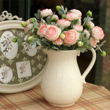 XM1 1 Branch 3 Heads Tea Rose Pink Home Decoration Artificial Flower