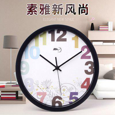Buy BLACK WHITE May Time World Time Clock Wall for $16.58 in GearBest store