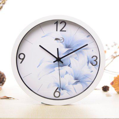 Buy WHITE + BLUE + GREEN May Time Blue Enchantress Plastic Wall Clock for $16.48 in GearBest store