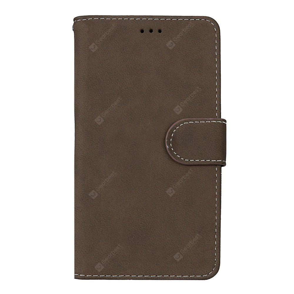 Wkae Grind Arenaceous PU Leather Flip Stand Case with Wallet and Three Card Slots for LG K10 2017 LV5