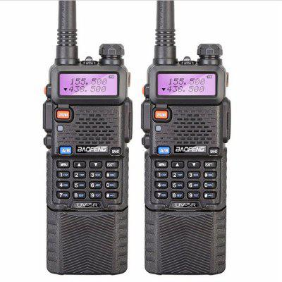 Baofeng 2Pcs Radio Station UV5R Walkie-talkie Interphone 3800mAh Long Battery Ham