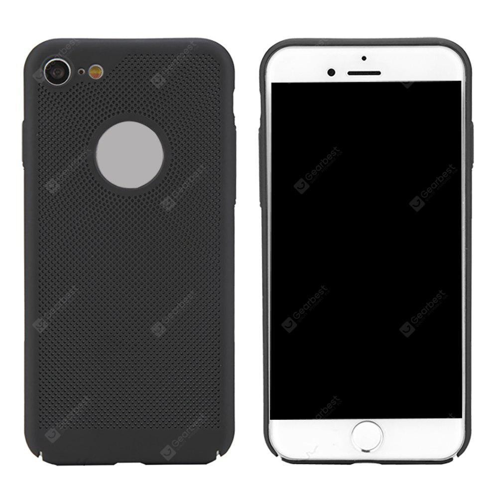 Moda Ultra-Thin Respirável Cooling Mesh Hard Phone Cover para iPhone 7