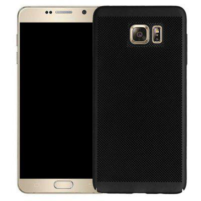 Moda Ultra-Thin Respirável Cooling Mesh Hard Phone Cover para Samsung Note 5